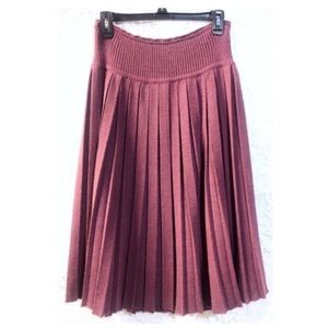No Tags Vintage Pleated Wool Skirt